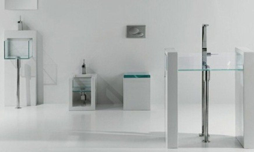 Glass Bathroom Inspiration by GSG Ceramic Design, Transparently Alluring