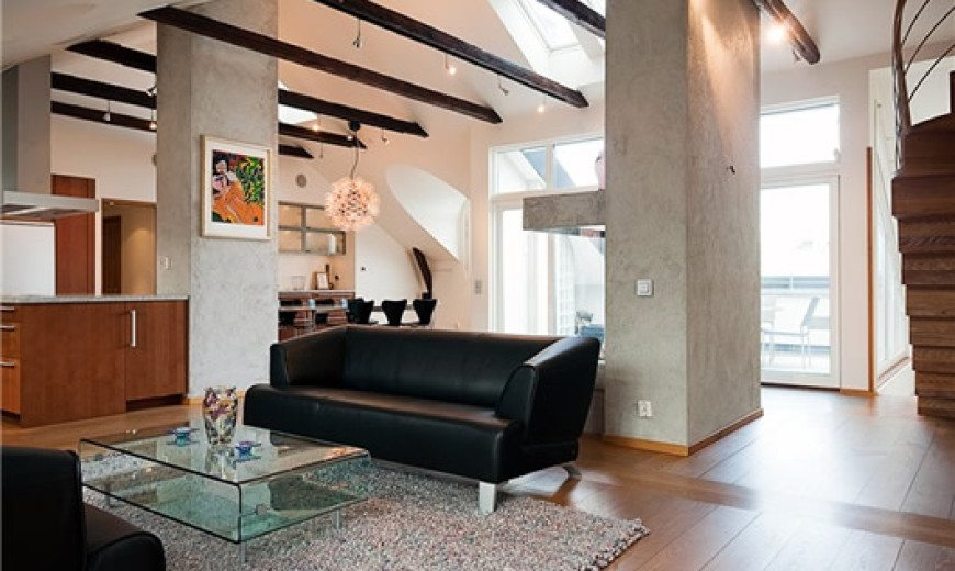 Modern Penthouse in Central Stockholm, Redefining the Classic Attic