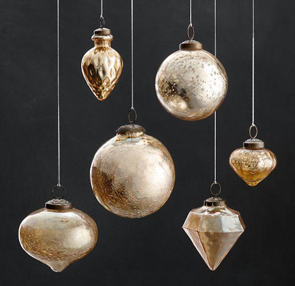 Vintage hand-blown glass ornaments
