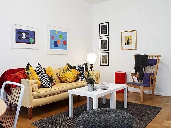 Bright Cozy White Furnished Apartment 7