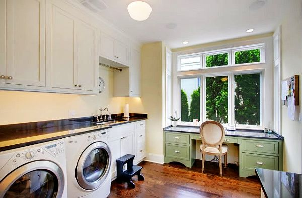 Bright Modern Laundry Room