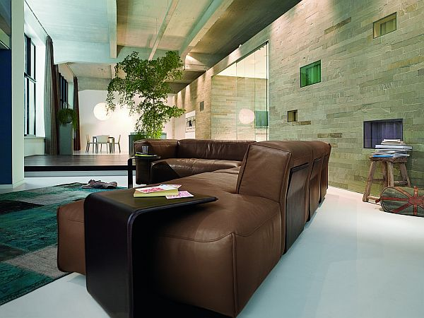 Leather Corner Sofa Rolf Benz MIO 2