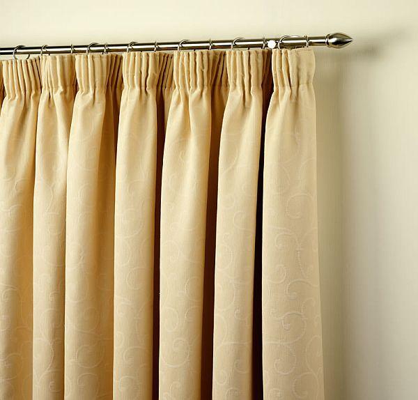 Pencil Pleats heading curtains