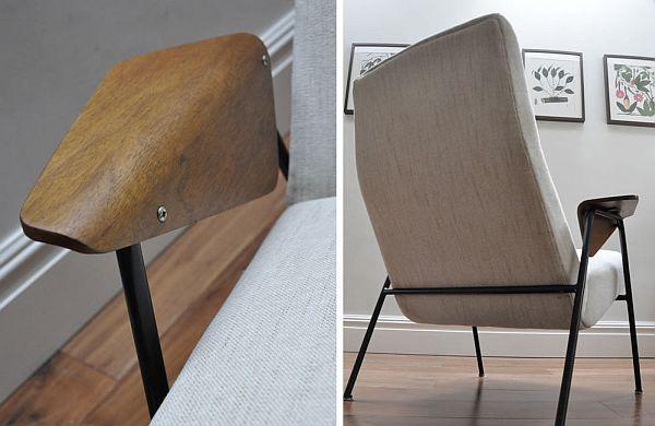 Re-upholstered Arno Votteler 350 chair 3