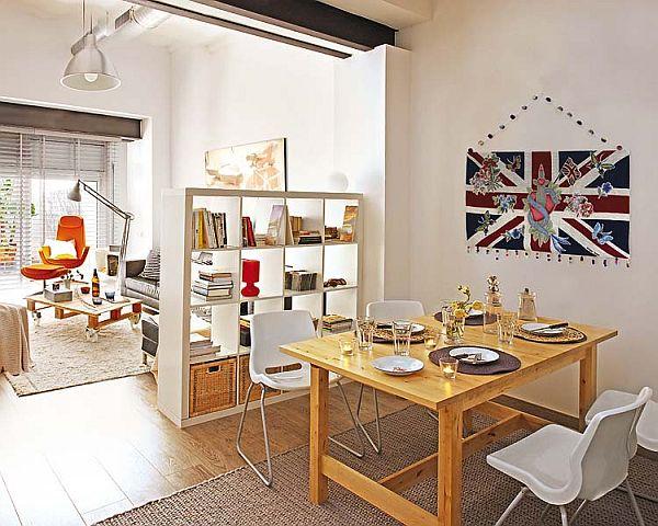 Small Loft Redecoration living-dining room