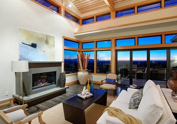 Harrison Street Residence fireplace living area