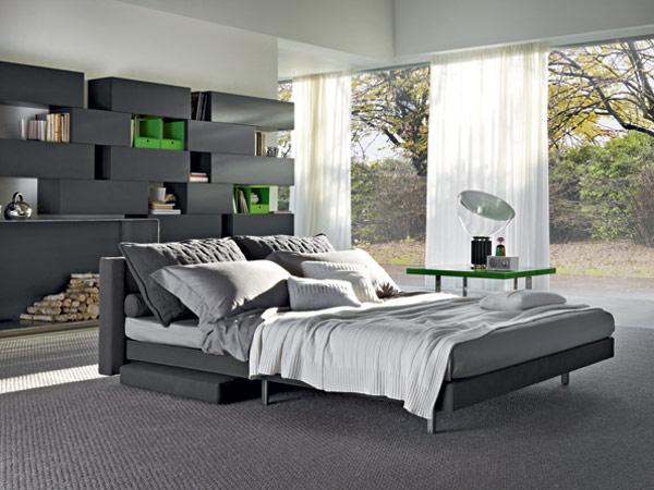 Sleek Oz Sofa Becomes Modern family Bed