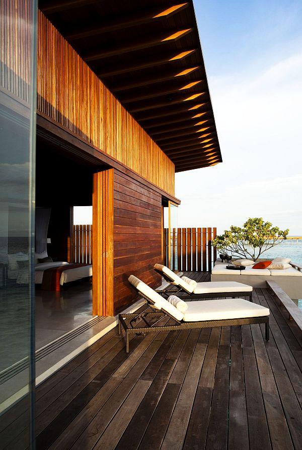 luxury beach house lounge area
