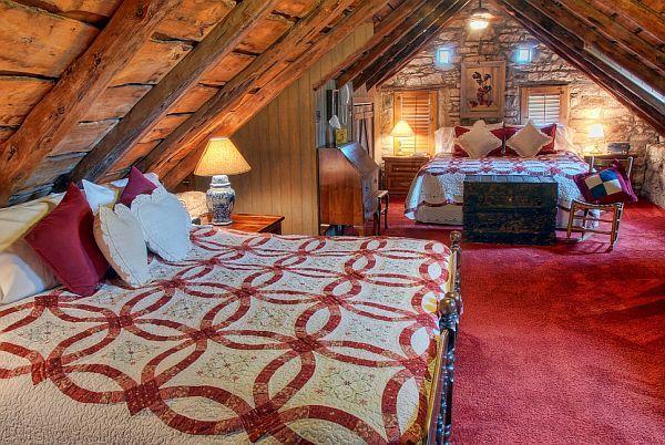 rustic attic bedroom design