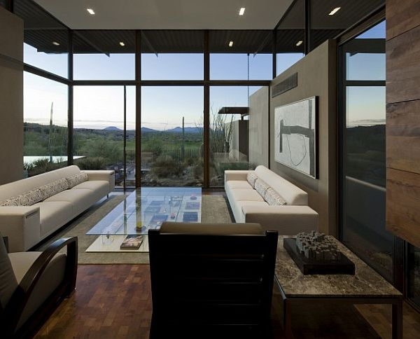 Desert Modern Living Room with Golf Course Views – Sonoran 13