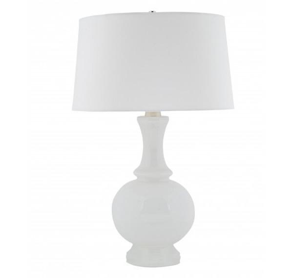 White milk glass lamp base
