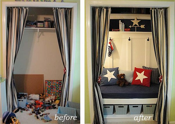clothing hideout into a reading nook