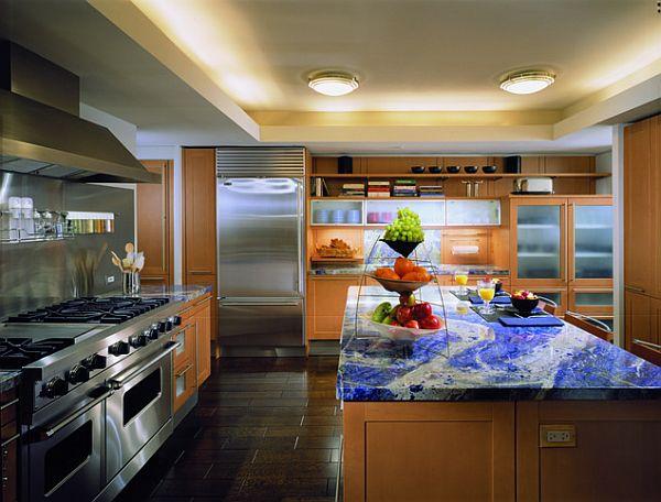 blue mineral sodalite kitchen countertop