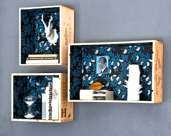 wine crate collection display boxes