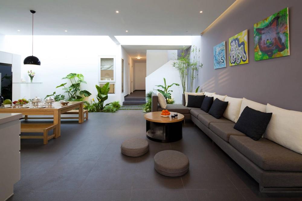 Go Vap Modern House – large L shape sofa