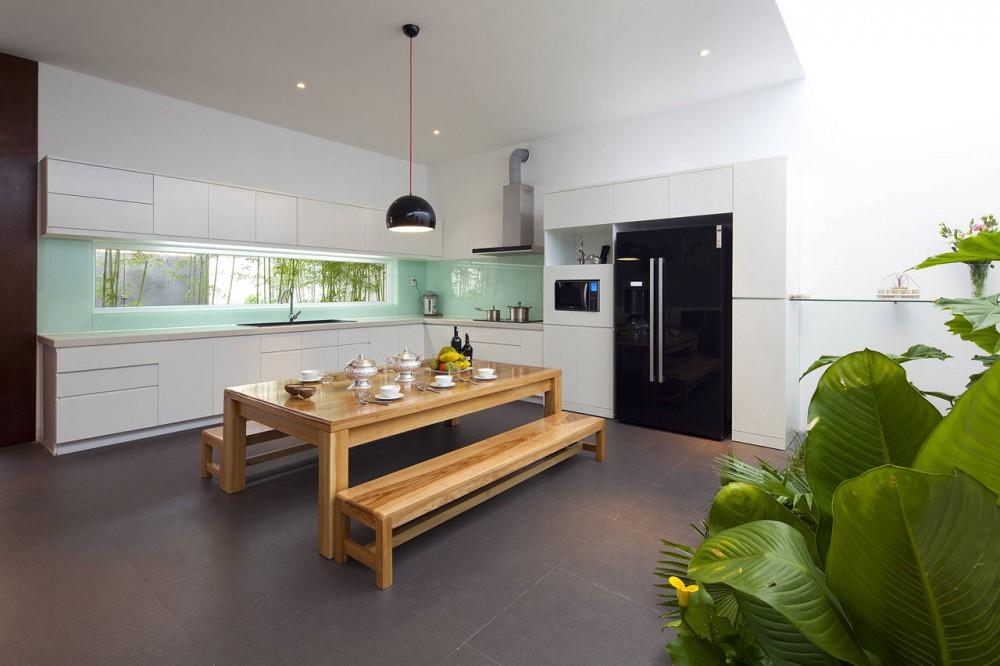 Go Vap Modern House – white minimalist kitchen