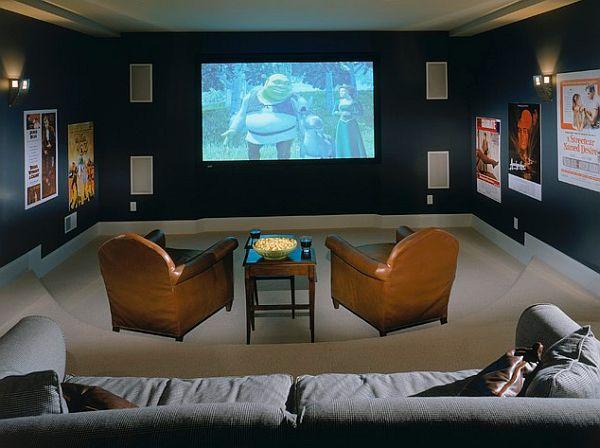 cozy media room design
