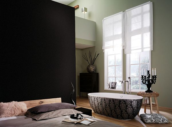 luxury bath and master bedroom – no barriers