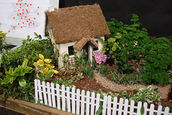mini garden with house