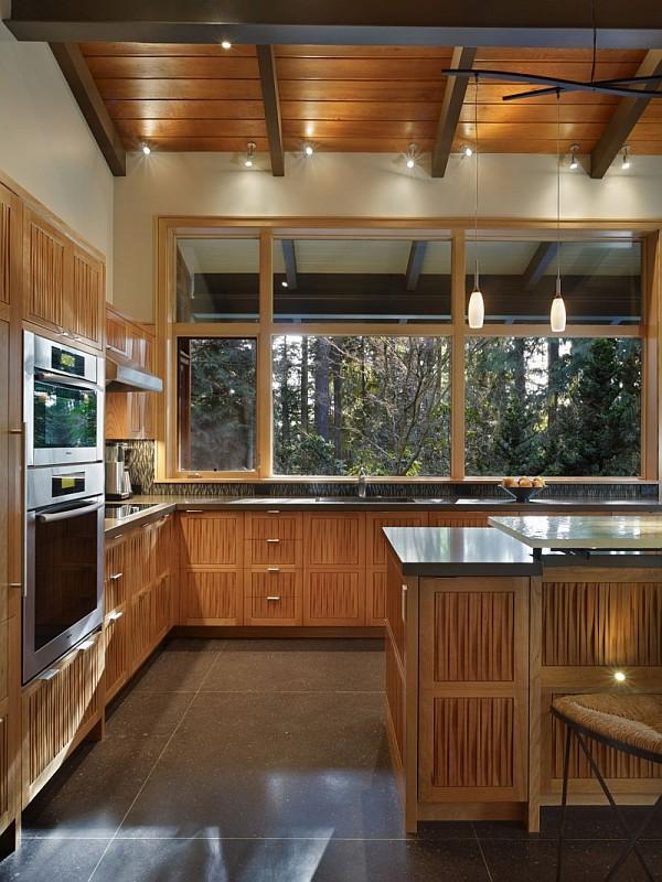 Lake Forest Park Renovation – wood kitchen