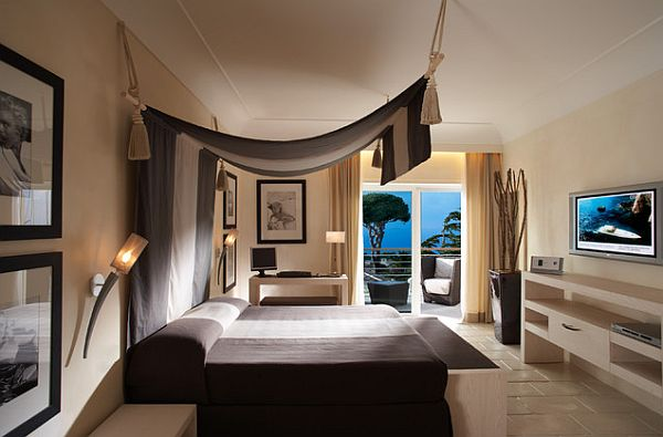 Stylish canopy over the bed