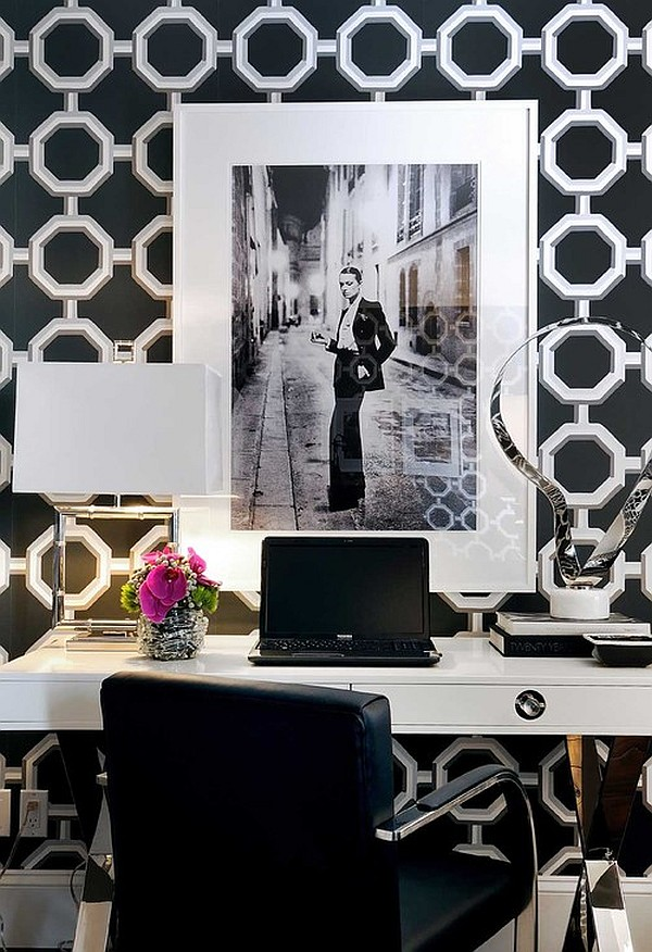contemporary home office for a chic girl