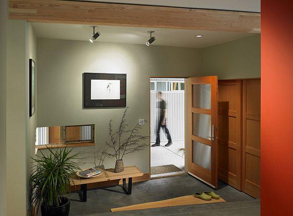 A very cool entryway design idea