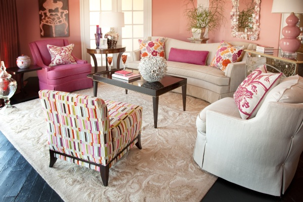 coral living room