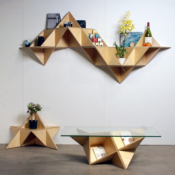 geometric shelf