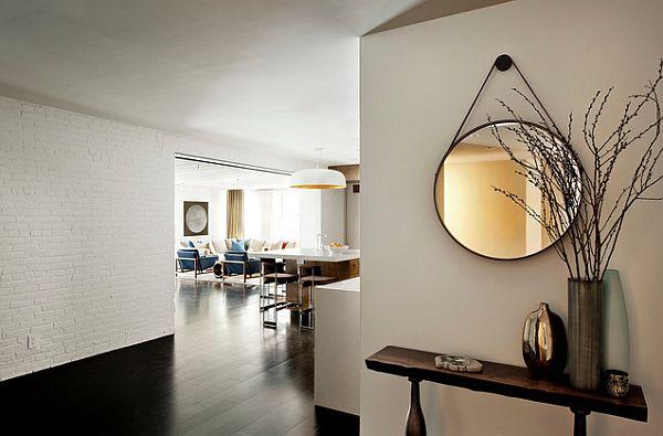A modern minimalist approach to an entryway