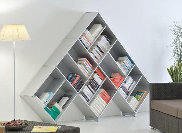 pyramid 3 geometric book case