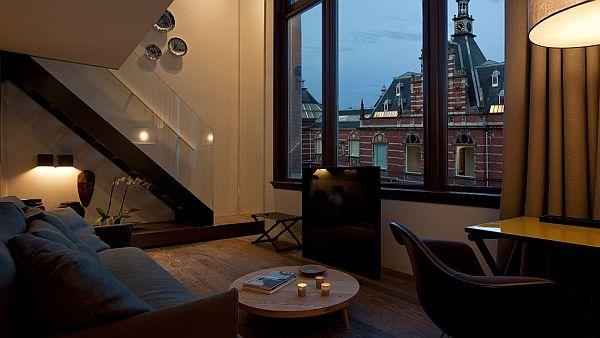 Conservatorium Hotel Amsterdam – two level suite city bedroom