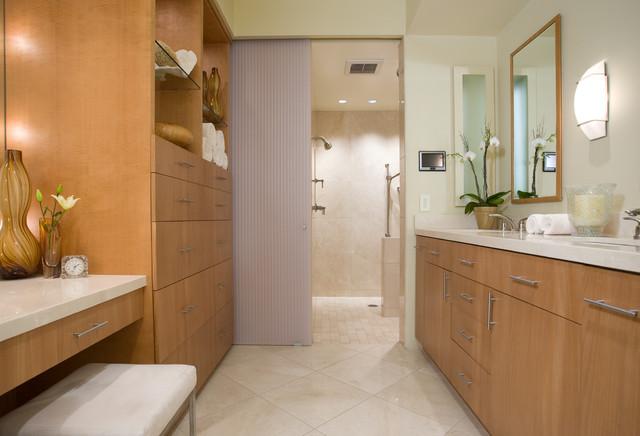 modern bathroom tile floor