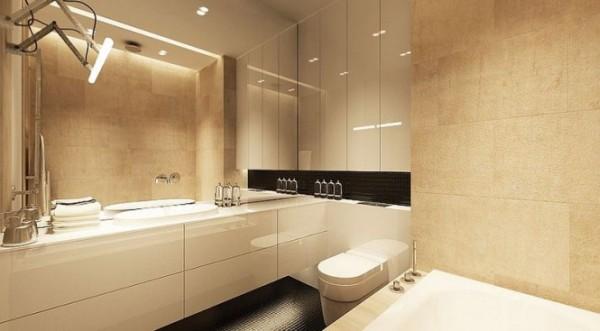 modern bathroom with a creme design