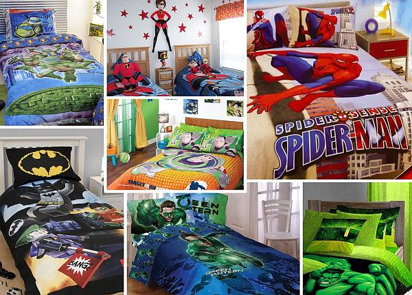superhero inspired bedrooms bedding sheets