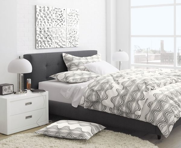 A Mid-Cenutry modern-style bed