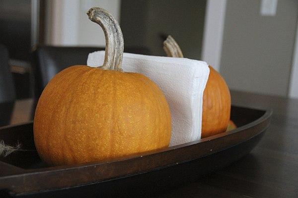 pumpking napkins holder