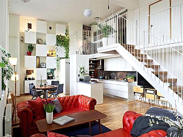 A luxury apartment filled with plants