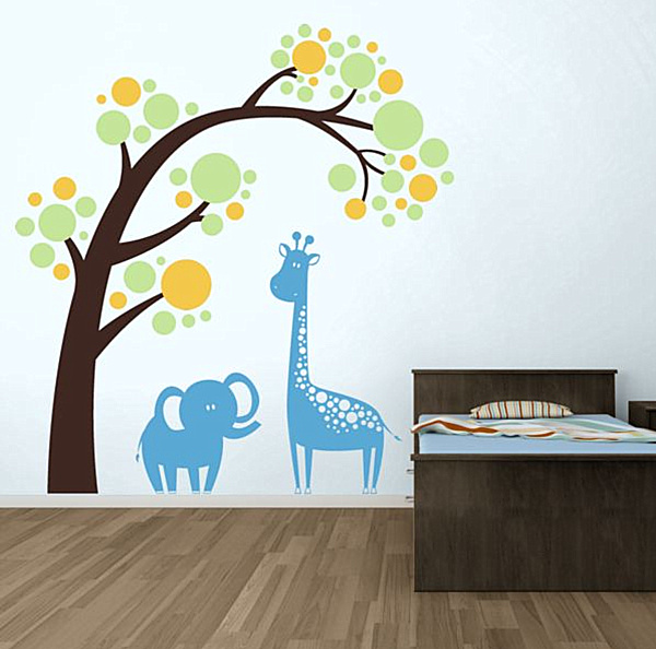 Animal-themed nursery wall decals