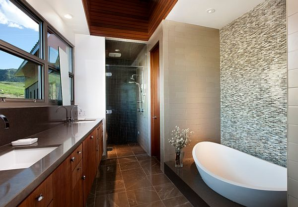 Elegant bathroom tile flooring