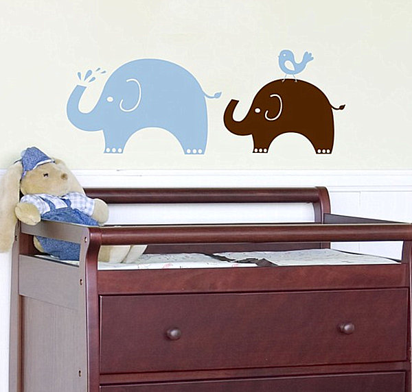 Elephant nursery wall decals