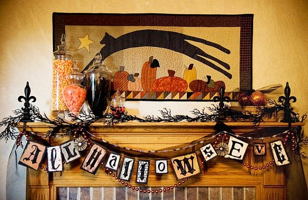 Halloween decorations and signs