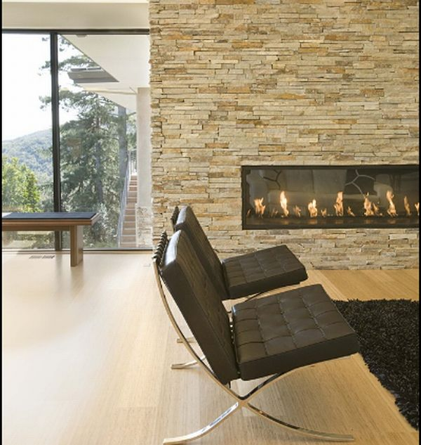Lovely Rectangular fireplace with contemporary twist