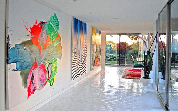 Neon artwork in a modern home