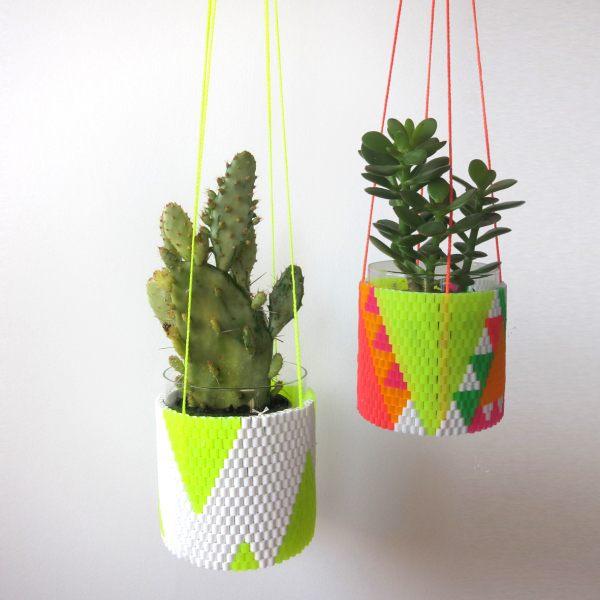 Neon plant holders