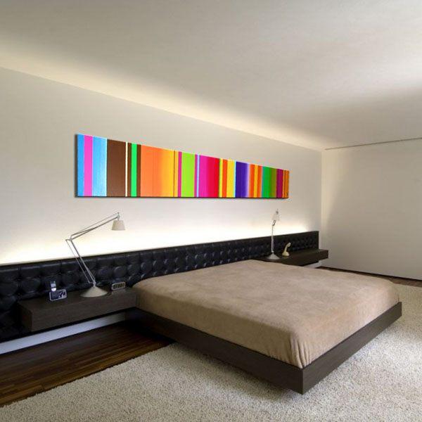 Neon stripe artwork