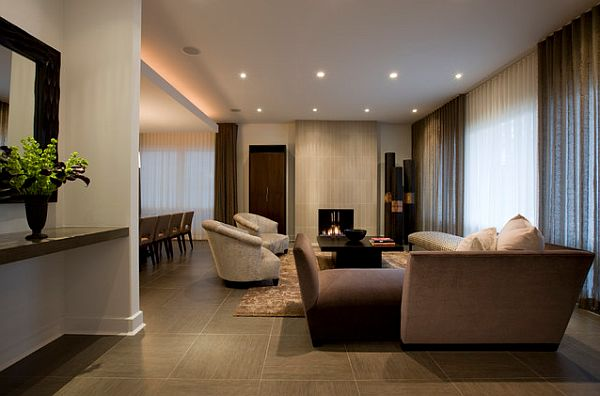 Roca Stone Porcelain Tile in the living room