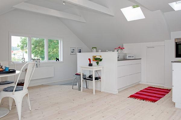 Small Attic apartment design