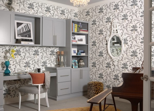 bold wallpaper neutral tones