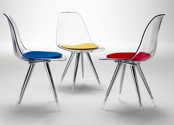 Bold acrylic dining chairs